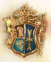 medalla oro y esmaltes al fuego