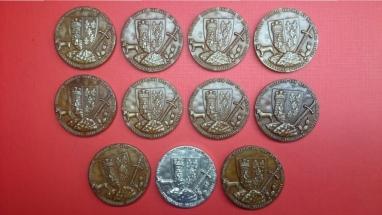 medallas de bronce y plata