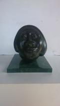CABEZA OVERLI en bronce
