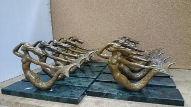 trofeos club náutico en bronce