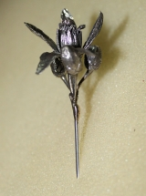aguja de azahar en plata