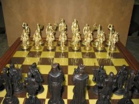 ajedrez de bronce
