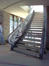 baranda de escalera en bronce