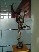 Dios Mercurio en bronce