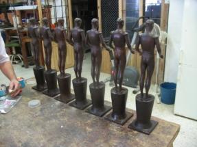 toreros en bronce