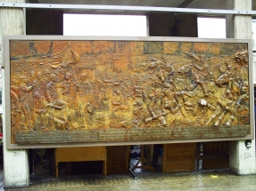 mural de bronce