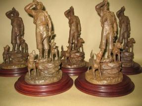 trofeos de caza en bronce
