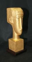 fundición de bronce bañado en oro