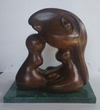 Maternidad de OVERLI en bronce