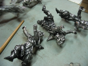 angeles fundidos en plata