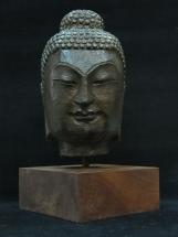 cabeza de buda en bronce