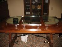 centro de mesa en bronce