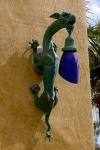 aplique de luz en bronce