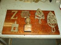 objetos decorativos en bronce